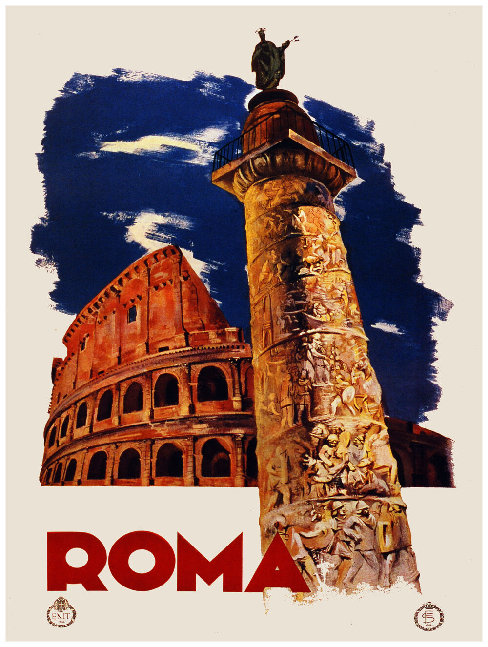 Decor Travel Poster. Graphic Design. Rome - . home room Interior (1242a)
