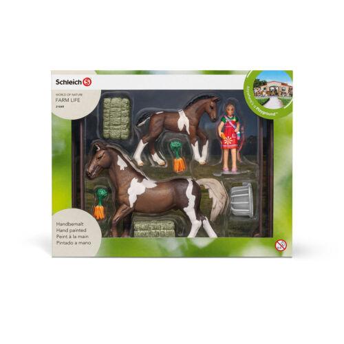 """/""""caballos alimentación trakehner/"""" OVP-New!!! nuevo 21049 /"""" feeding Playset/"""" #schleich"""