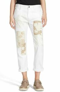 ~* NWT Stella McCartney The Skinny Embroidered Patchwork Boyfriend Jeans 27