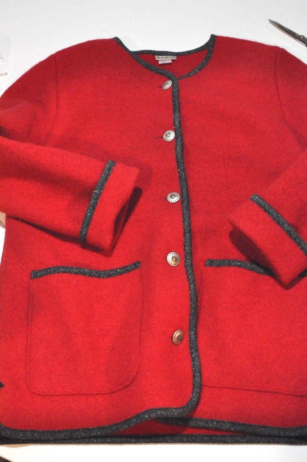 Vintage L.L. Bean Womens Medium red wool made in Austria