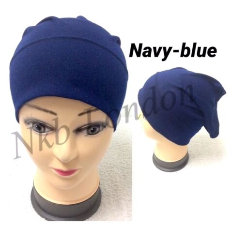 Women Ladies Under Scarf Hijab TUBE BACK Bone BONNET Cap 18 Colours Stretchable