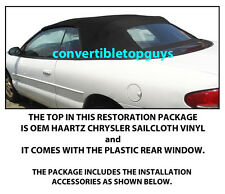 CHRYSLER SEBRING CONVERTIBLE TOP DO IT YOURSELF PACKAGE 1996-2006