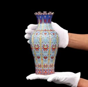 Chinese-Classic-Qing-Ceramic-Vase-Porcelain-Flower-China-Antique-Reproduction