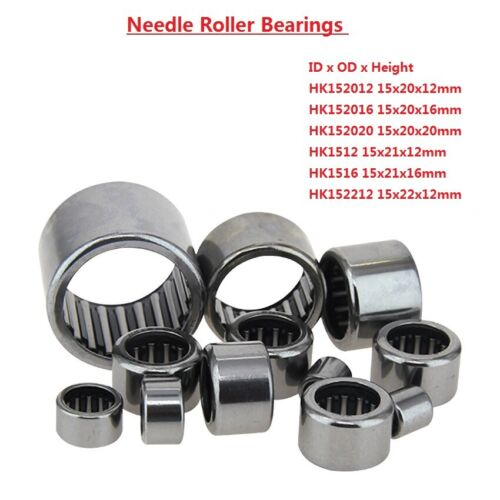 Drawn Cup Needle Roller Bearing HK152012 HK152016 HK152020 HK1512//1516 HK152212