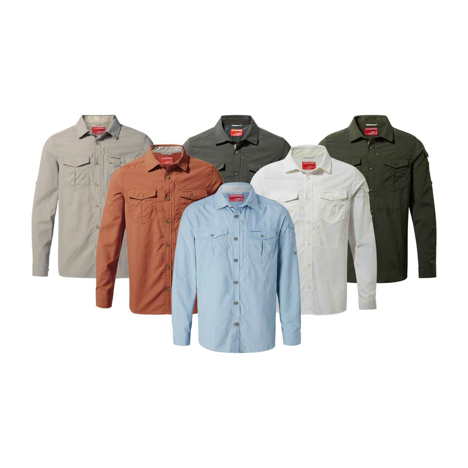 Craghoppers Mens NL ADV Manches Longues-Shirt