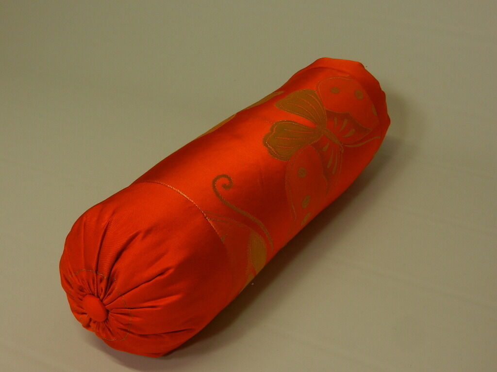 Sausage Shaped Japanese Textile Accent Pillow