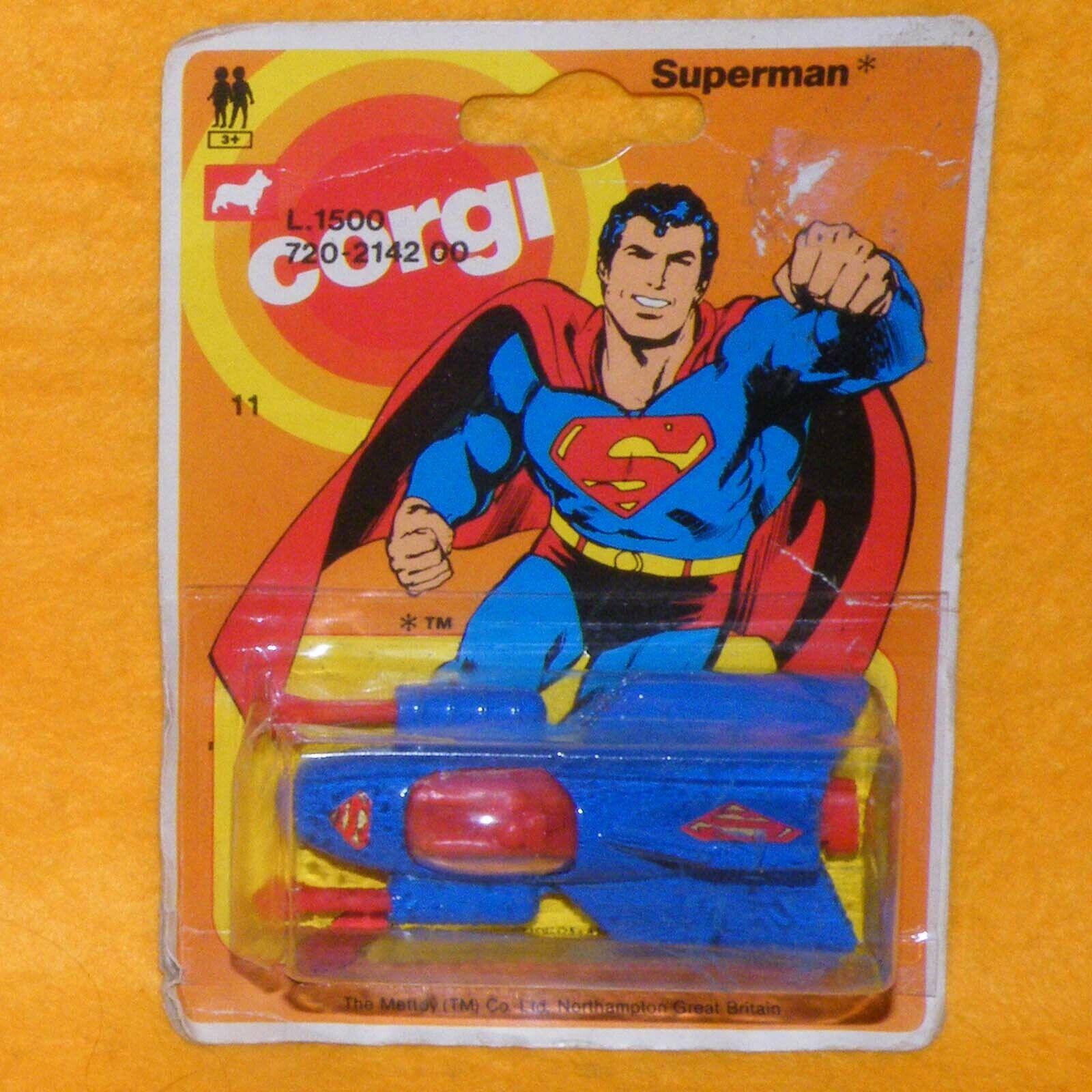 VINTAGE 1978 CORGI JUNIORS 11 SUPERMAN SUPERMOBILE VEHICLE MOC CARDED VARIATION
