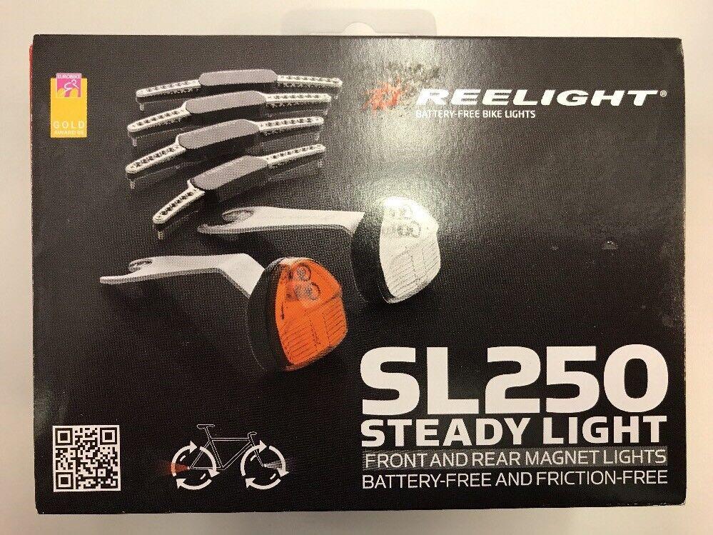 Reelight SL250 Steady Batterie gratuit Vélo Feux avant et arrière pour freins à disque