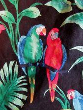 Gorgeous red green blue parrots floral Hawaiian-made shirt XXL 2XL by RJC