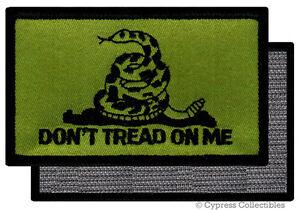 DONT-TREAD-ON-ME-GADSDEN-FLAG-PATCH-AMERICAN-GREEN-w-VELCRO-Brand-Fastener