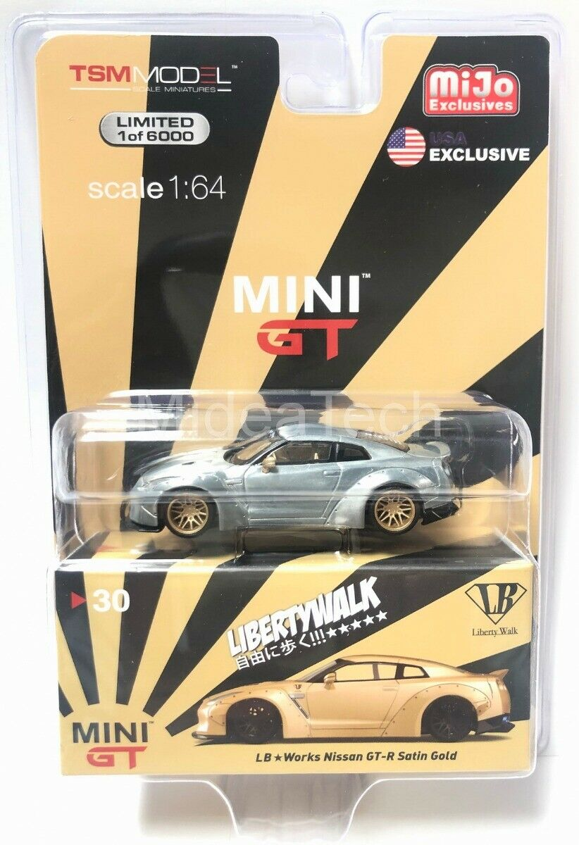 MINI GT 1 64 LB Works Nissan GTR R35 Type 1 Zero Fighter MGT00030 Raw Chase Car
