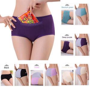 Women-Menstrual-Period-Underwear-Breathable-Leakproof-w-Pocket-Panties-Underpant