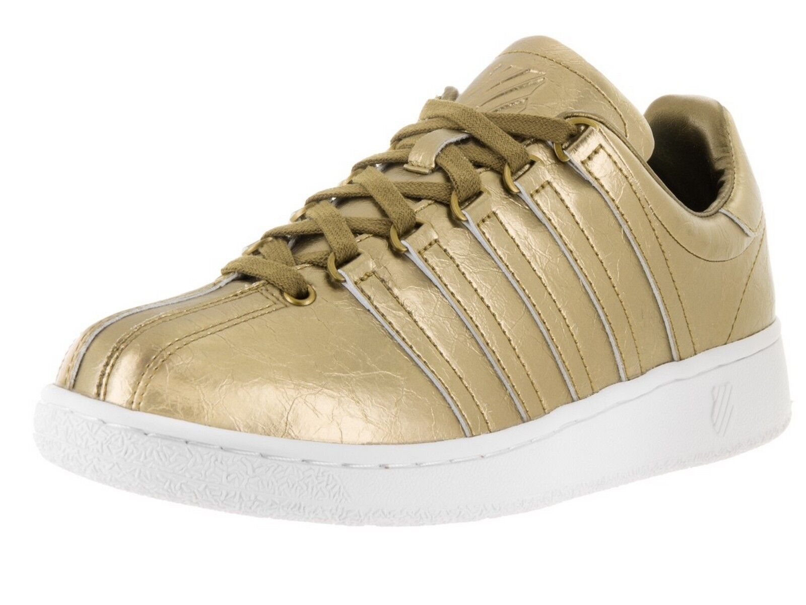 Men's K-Swiss Classic VN Aged Foil Metallic gold White casual 03744-716