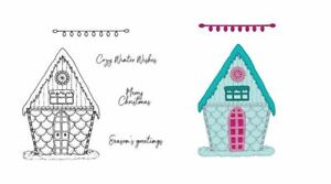 Season of Glee Rubber Stamp Christmas Heartfelt Creations Candy Cane Cottage