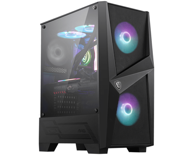 MSI MAG Forge 100R RGB Tempered Glass Mid-Tower ATX Case