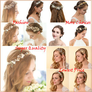 HOT-Bridal-Wedding-Headbands-Pearl-Flower-Barrette-Rhinestone-Hair-Comb