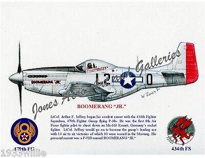 "4FG Capt Don Gentile/'s P-51B Mustang /""Shangri-La/"" Giclee Prints by Willie Jones"