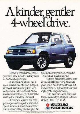 off-road Classic Vintage Advertisement Ad H02 1998 Suzuki Sidekick