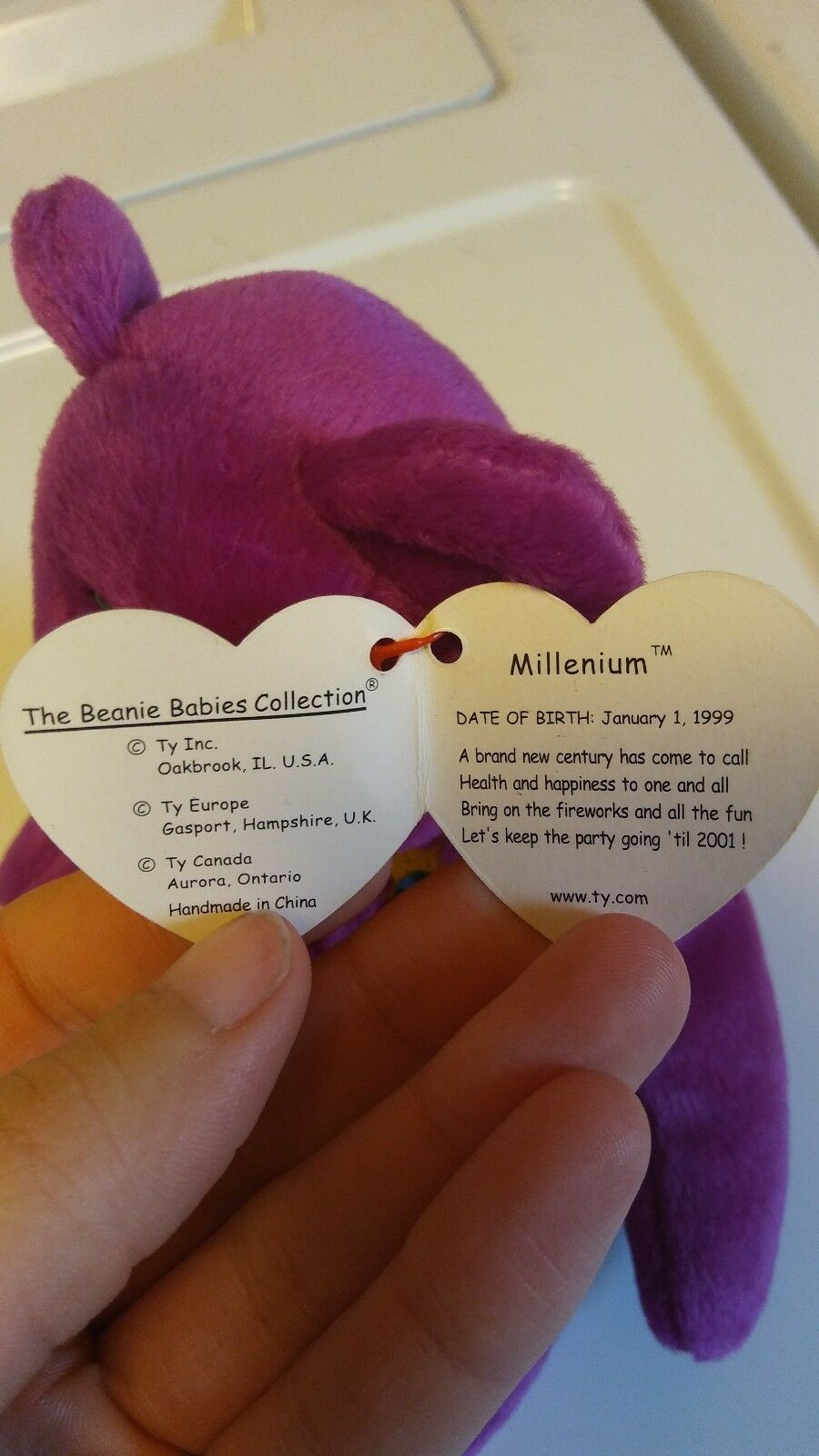 Millenium beanie baby, 1999, 1999, 1999, great condition 8a3ea6