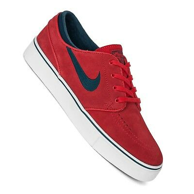 Nike Sb Stefan Janoski Skate Shoes Red University Red Midnight Turquoise | eBay