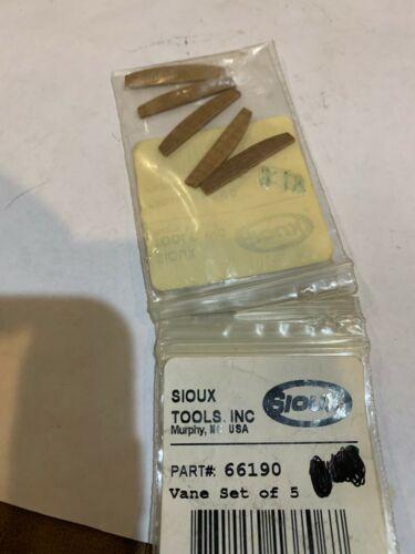 Sioux 66190 rotor vanes set of 5  many 1410 1412 air drills