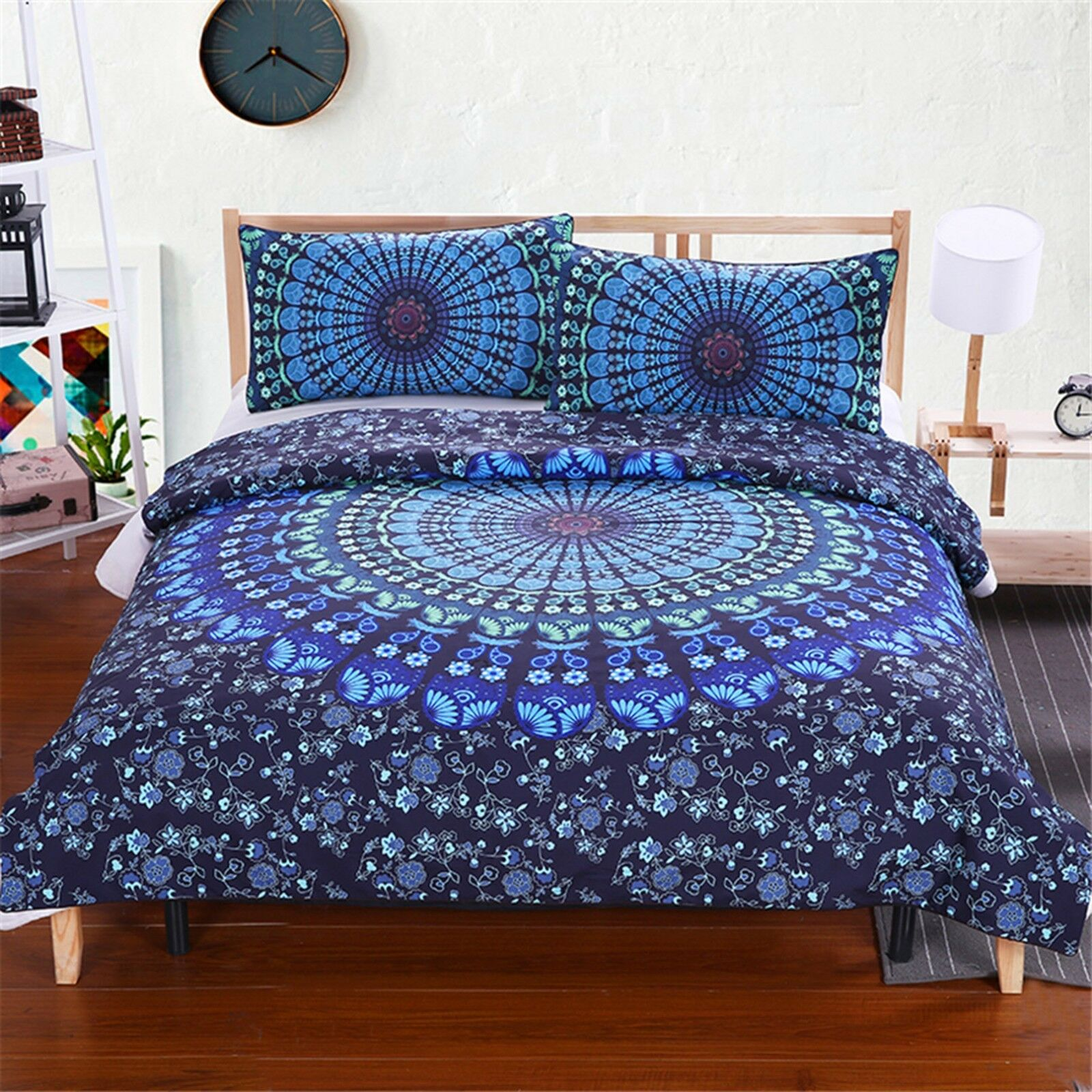3D Blau Pattern Art 4774 Bed Pillowcases Quilt Duvet Cover Set Single Queen CA