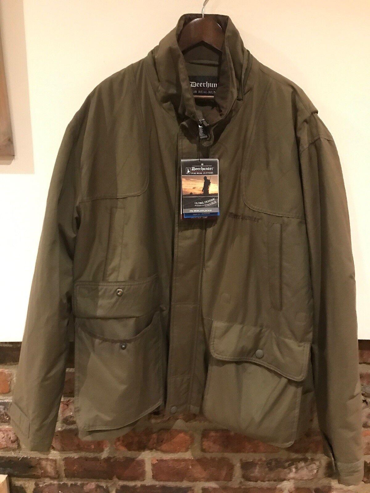 Deerhunter Highland 5976 Chaqueta Para Hombre verde Talla 60 Talla 50 Tiro De Caza