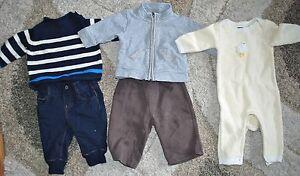 c0aa43e3e78e  Lot of 5pc  Boys 3-6M BabyGap Winter Sweater Romper Jeans Pants ...