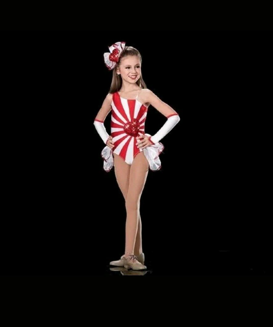 Tap/Modern/Jazz Dance Costume - Artstone - White & Red - Brand New - Small Child