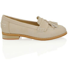 96f5409508e3 item 1 Womens Flat Slip On Tassel Loafers Ladies School Work Pumps Brogues  Shoes Size -Womens Flat Slip On Tassel Loafers Ladies School Work Pumps  Brogues ...