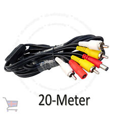CCTV 20 Meter RCA Power Audio Video AV DVR System Camera Cable UKES