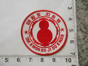 "Tae Kwon Do Ji Do Kwan 4/"" Martial Arts Gi PATCH"