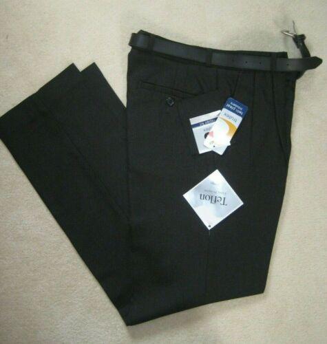 "New Trutex School Trousers Charcoal single /& twin pleat with belt 26/""W 28/""W"