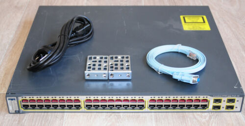 Cisco WS-C3750-48PS-E Layer3 Latest IOS Ethernet Switch Enhance WS-C3750-48PS-S
