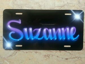 Airbrush Custom License Plate Personalized w Your Name