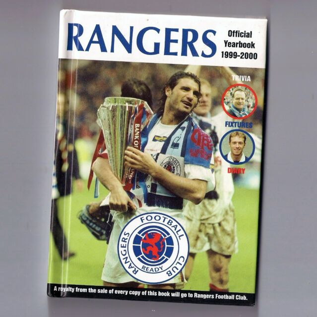 RANGERS OFFICIAL YEARBOOK 1999-2000 Pocket Book HARDBACK Football Club FC - VGC