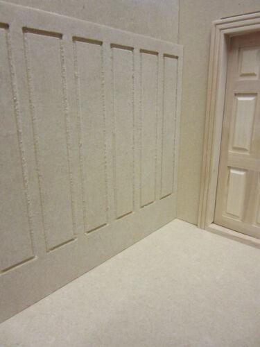 Casa De Muñecas 12 Escala Panelados de pared de alto mdf102