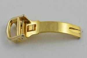 Cartier Leather Bracelet Folding Clasp 0 15/32in Steel Deployment Gold Plated