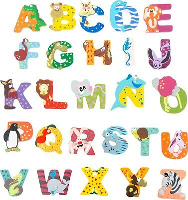 Children Bedroom Nursery Wall Door Wooden Name Letter Alphabet Jungle Animals Kids Teens At Home Plaques Signs Letters