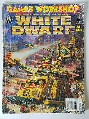#181 White Dwarf Magazine Games Workshop Cittadella Miniature Vintage 1980/90s-
