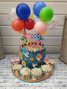 BALLOON-CAKE-TOPPER-CONFETTI-BRIDE-PARTY-BIRTHDAY-WEDDING-RAINBOW-MINI-GARLAND