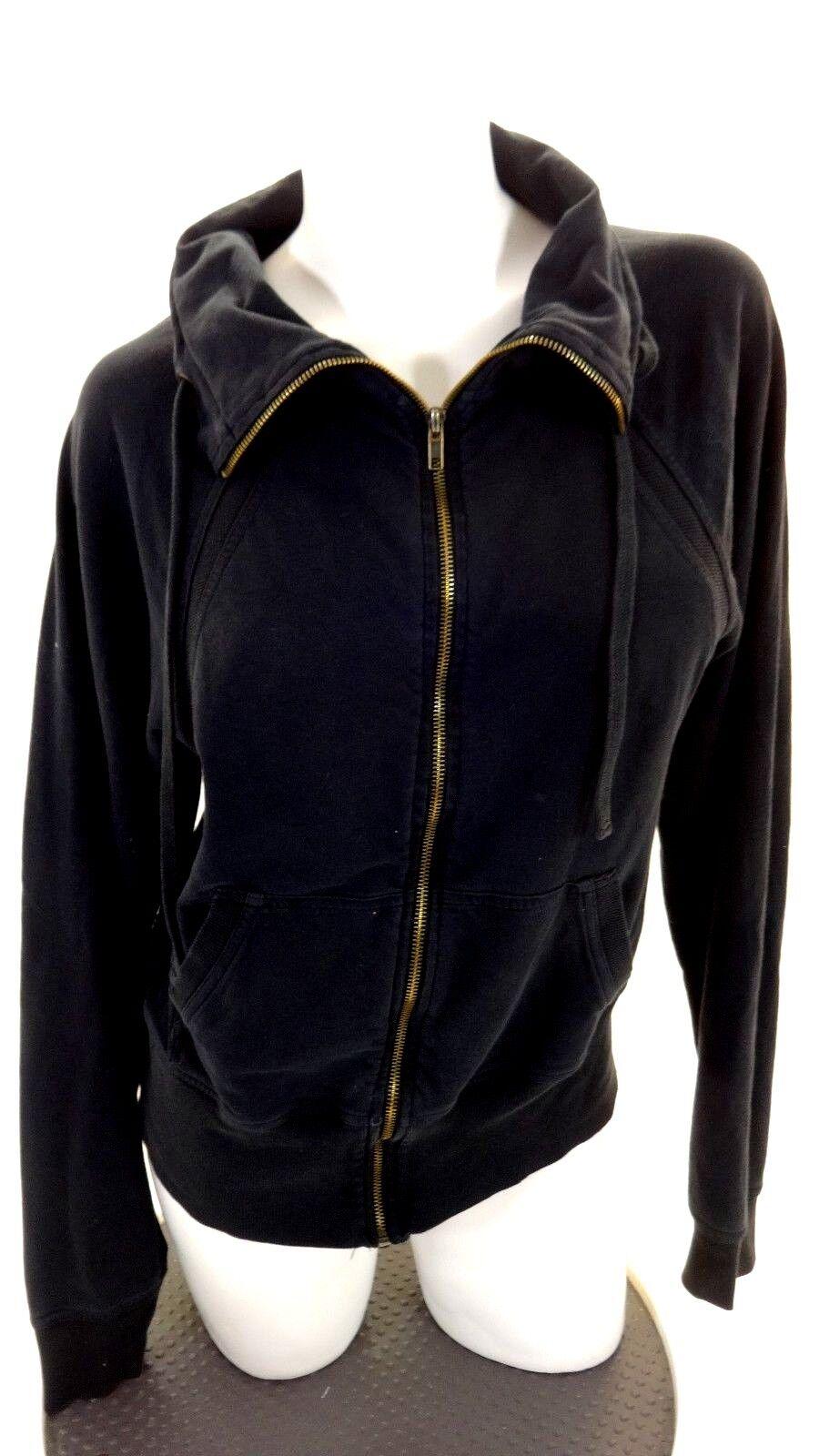 Ideology Damen Schwarz Sweatshirt Jacke Größe M