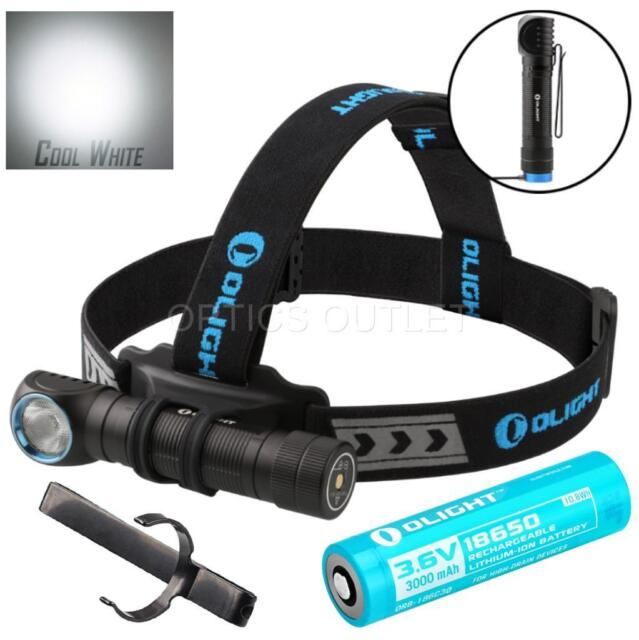 Olight H2R 2300 Lumen Cool White LED Rechargeable Headlamp Flashlight & Battery