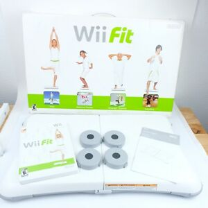 Nintendo Wii Fit Balance Board With Game and Original Box TESTED WORKING CIB