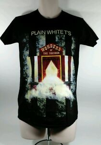 PLAIN-WHITE-T-039-s-Wonders-of-the-Younger-TOUR-2011-Concert-T-Shirt-Black-Small