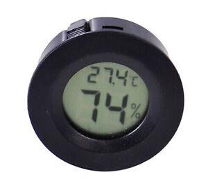 Digital-Cigar-Humidor-Hygrometer-Thermometer-Round-Black-Face
