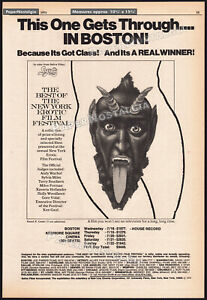 BEST-OF-NEW-YORK-EROTIC-FILM-FESTIVAL-Orig-1973-Trade-AD-poster-ANDY-WARHOL