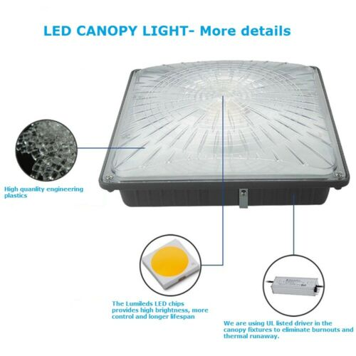 1000LED LED Canopy Light 65W 4 Pack IP66 for Parking Garages AC120-277V