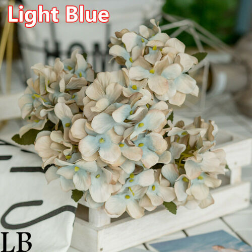 Supplies DIY Crafts Fake Bouquet Silk Hydrangea Artificial Flower Desktop Decor