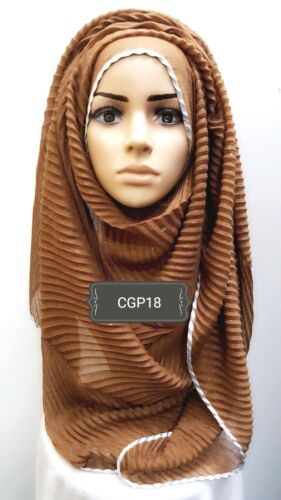 Hijab head scarf maxi shawl chiffon jersey crimp cotton georgette visocse CGP18